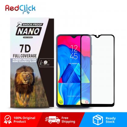 iTOP Samsung Galaxy A10/ M10 7D Full Coverage Screen Protector Nano Flexible Glass Film - Shock Proof