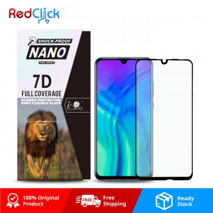 iTOP Honor 20 Lite 7D Full Coverage Screen Protector Nano Flexible Glass Film - Shock Proof