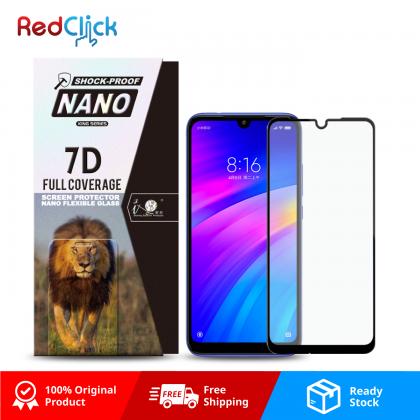 iTOP Xiaomi Redmi 7 7D Full Coverage Screen Protector Nano Flexible Glass Film - Shock Proof