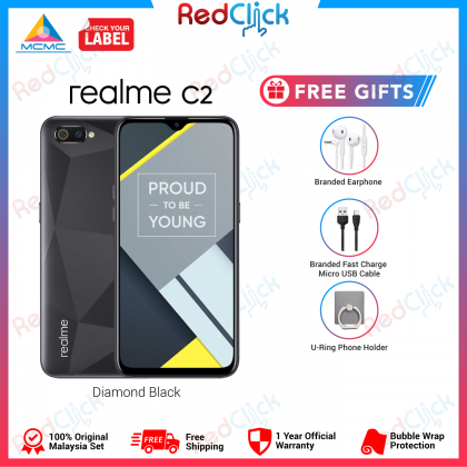 Realme C2 (3GB/32GB) Original OPPO Malaysia Set + 4 Free Gift Worth RM109
