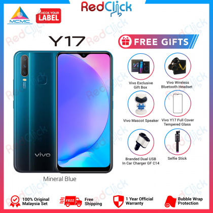 VIVO Y17 /1902 (4GB/128GB) Original VIVO Malaysia Set + 4 Free Gift Worth RM399