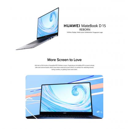 Huawei Matebook D 15 R5 / BOH-WAQ9R (8GB/256GB SSD + 1TB HDD) Original Huawei Malaysia Set + 3 Free Gift Worth RM319