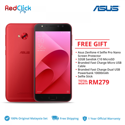 Asus Zenfone 4 Selfie Pro / ZD552KL (4GB/64GB) Original Asus Malaysia Set + 5 Free Gift Worth RM279