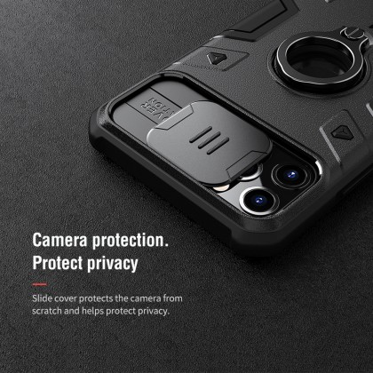 Nillkin Apple iPhone 11 /iPhone 11 Pro /iPhone 11 Pro Max Armor CamShield Slide Cover For Camera Protection Back Case