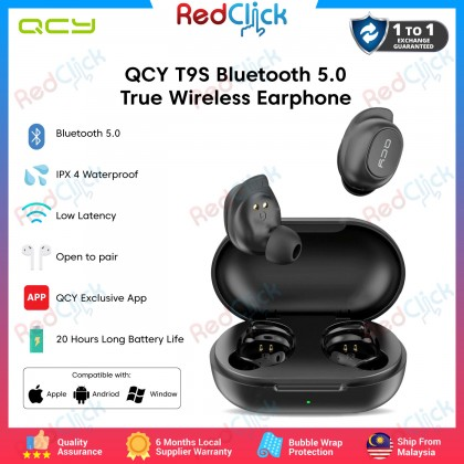 QCY T9s (In1950) Wireless Bluetooth 5.0 True Wireless Earbuds Multiple Mode In Ear Headset with Charging Case
