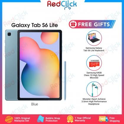 "Samsung Galaxy Tab S6 Lite 10.4"" with S-Pen /SM-P610 (4GB/64GB) WiFi only Original Samsung Malaysia Set + 3 Free Gift Worth RM399"