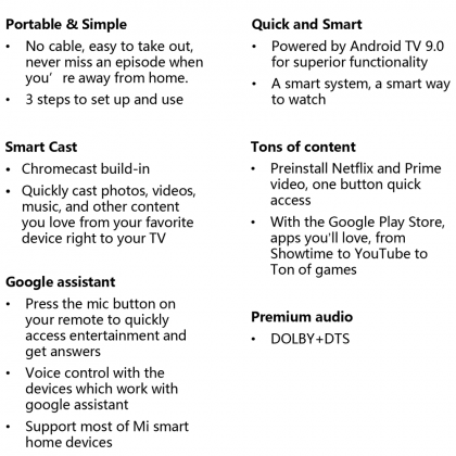 Xiaomi Mi TV Stick FHD android TV Support Google Assistant Netflix Youtube Spotify HBO Google Play