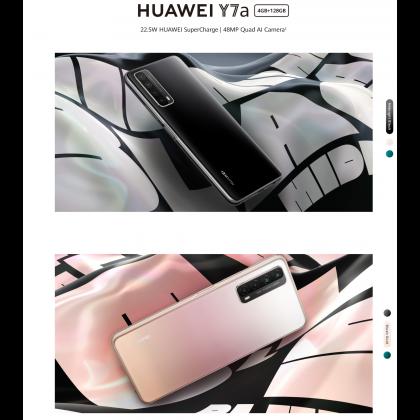 Huawei Y7a (4GB/128GB) Original Huawei Malaysia Set + 4 Free Gift Worth RM119