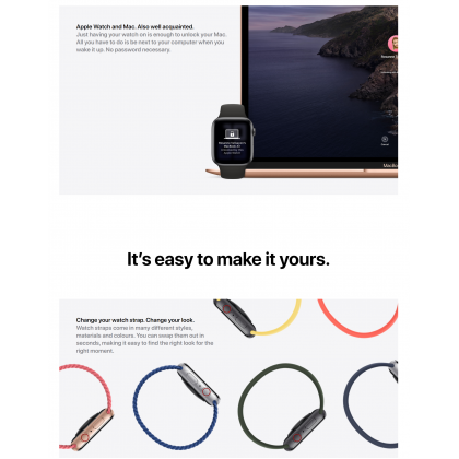 Apple Watch SE A2351/A2352 (40mm/44mm) Retina Display High and Low Heart Rate Notification Smart Watch Original Apple Product