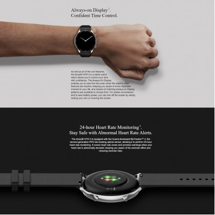 """(Official Amazfit) Amazfit GTR 2 1.39"""" AMOLED Display 3D Curved Bezel-less Design Music Storage 14-Day Ultra-Long Battery Life Built-in Mic And Speaker Support Phone Call"""