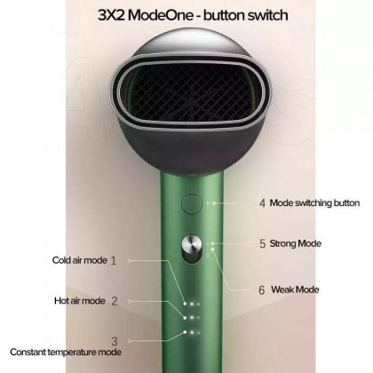 Showsee A5 Anion 1800W Hair Dryer High Concentration Anion Case Switch Hot And Cold Air + Free Gift