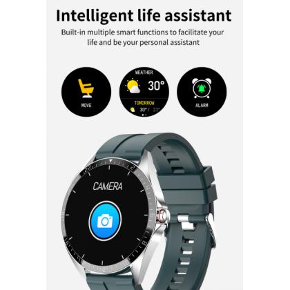 "Kumi GW16T 1.3"" Display Support Blood Pressure Monitor Water Resistant IP67 Smart Watch"