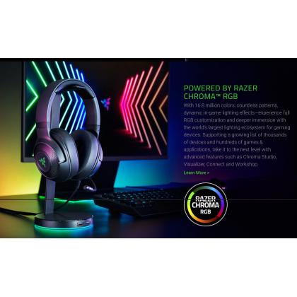 Razer Kraken V3 X Wired USB Gaming Headset Ultra Light Comfort Heavy Bass 7.1 Surround Sound Hyperclear Cardioid Mic With Raze Chroma RGB Design Gaming Headset
