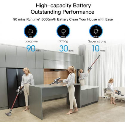 Xiaomi Dreame V11 25k Pa Cordless Vacuum Cleaner All In One OLED Display 90 Minutes Long Life Battery Noise Reduction Vacuum Cleaner Original Xiaomi Product