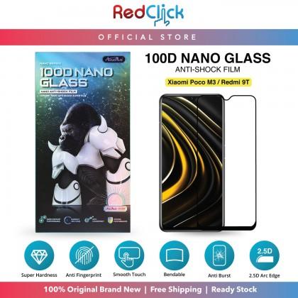 Atouchbo Xiaomi Redmi 9T /M3 100D Elegant Arc Edge Nano Anti-Shock Glass Film