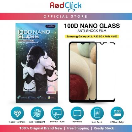 Atouchbo Samsung Galaxy A32 5G /A12 /A02 /A02S /M02S /M02 /M12 100D Elegant Arc Edge Nano Anti-Shock Glass Film