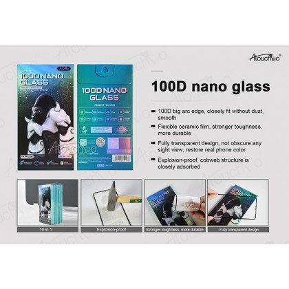 Atouchbo Samsung Galaxy A72 100D Elegant Arc Edge Nano Anti-Shock Glass Film