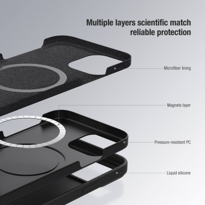 Nillkin Apple iPhone 12/ 12 Pro /12 Pro Max Camshield Silky Slide Cover For Camera Protection Silicone Back Case