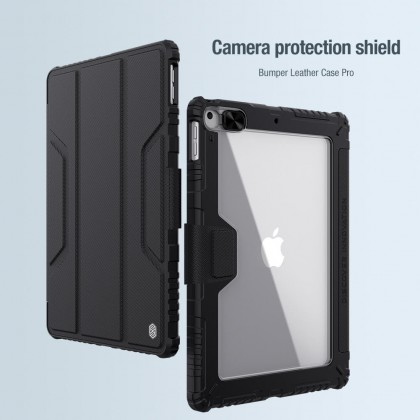 Nillkin Apple iPad 10.2 2020/2019 Bumper Pro Leather Slide Cover Camera Protection Flip Case Stand Design With Pencil Holder Magnetic Cover Anti Shockproof Tough