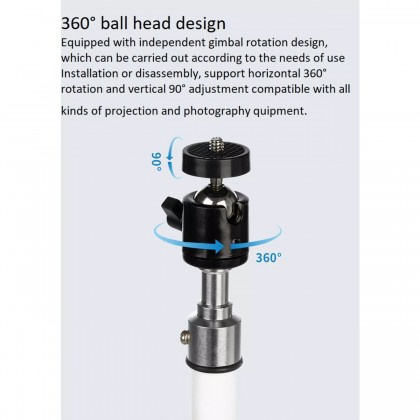 Wanbo Projector Floor Tripod Stand 1.7M Wanbo T2 Max / Pro / Free 360° Viewing Angle Adjustment Stable and Durable