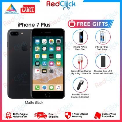 Apple iPhone 7 Plus (128GB) Original Apple Malaysia Set + 5 Free Gifts Worth RM139