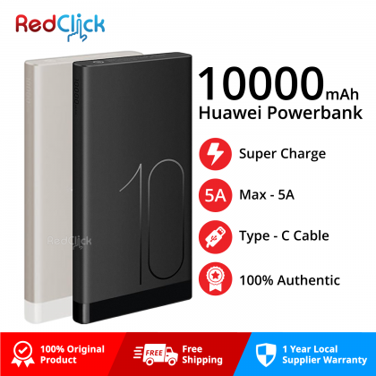 Huawei Original Super Charge Type-C Powerbank / AP09S 10000mAh (5A Super Charge)