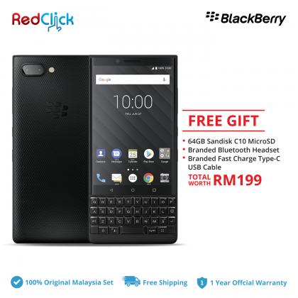 BlackBerry Key 2 (6GB/64GB) Original Malaysia Set + 3 Free Gift Worth RM199