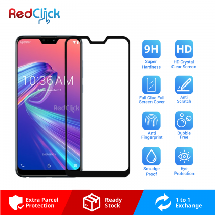 Asus Zenfone Max Pro (M2) Full Glue Full Cover 9H Tempered Glass