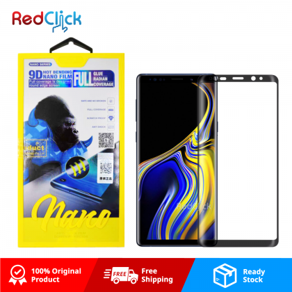 Atouchbo Samsung Galaxy Note 9 9D Full Glue Full Coverage Curved Screen Protector Nano Flexible Glass Film - Shock Proof