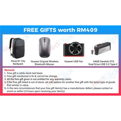 Huawei MateBook 13 WRT-W29E (i7/8GB/512GB SSD) Original Huawei Malaysia Set + 4 Free Gift Worth RM409